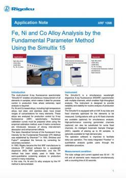 Fe, Ni and Co Alloy Analysis by the Fundamental Parameter Method Using the Simultix 15