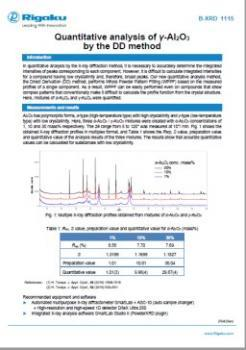 AppNote XRD1115: Quantitative analysis of γ-Al₂O₃ by the DD method
